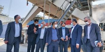 بازدید وزیر جهاد کشاورزی از روند تخلیه نهادهای دامی در بندر شهید رجایی