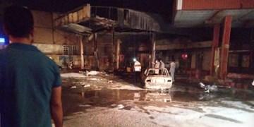 دو فوتی در انفجار پمپ بنزین تاکستان