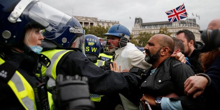 تظاهرات در لندن علیه محدودیتهای کرونایی