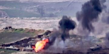 ادعای وزارت دفاع حکومت منطقه مورد مناقشه قرهباغ: 4 بالگرد و 10 تانک آذربایجان را نابود کردیم