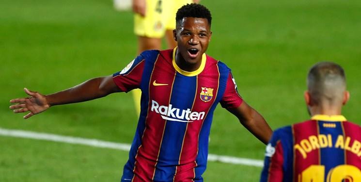 رکوردزنی بازیکن 17 ساله بارسلونا در لیگ قهرمانان