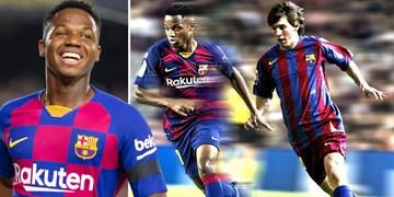 مقایسه آنسو فاتی با لئو مسی جوان / کدام بازیکن بهتر است؟ +عکس