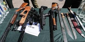 دستگیری 376  اراذل و اوباش در آذربایجان شرقی/ کشف  391 قبضه قمه و 51 قبضه سلاح جنگی و شکاری