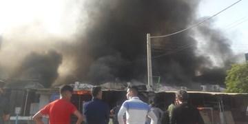۲۰۰ غرفه در آتش سوزی بازار بندر دیلم سوخت