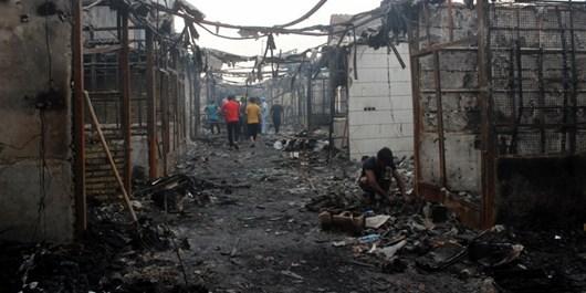 آتشسوزی بازار ساحلی بندر دیلم