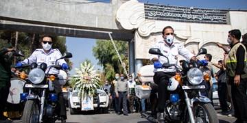 مراسم وداع با شهید مدافع سلامت «حاج سعید شفاعت» در شیراز