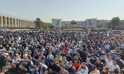 اعتراض برخی احزاب به نتایج اولیه انتخابات پارلمانی قرقیزستان + عکس