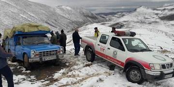 نجات عشایر گرفتار شده در برف و کولاک دامنه سبلان
