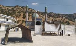 آماده سازی فضای برگزاری یادواره ۶۶شهید بخش چاروسا و بزرگداشت شهید مقداد بویر