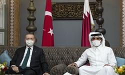 اردوغان و امیر قطر: اسرائیل حمله به غیرنظامیان بی دفاع فلسطینی را متوقف کند