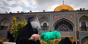 'گزارش تصویری/ حال و هواي اربعين حسيني در حرم امام رضا (ع)