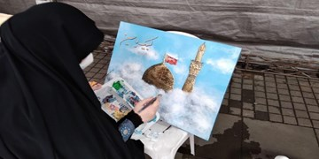 عکس| اجرای زنده نقاشی در پیاده راه فرهنگی رشت