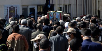 خاکسپاری شهید جانباز «رضا دِژخی» در بجنورد