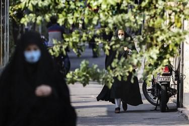 ماسک اجباری شد / خیابان نجات اللهی