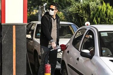 ماسک اجباری شد / پمپ بنزین تقاطع خیابان وصال و انقلاب