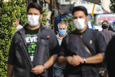 ماسک اجباری شد / خیابان فردوسی