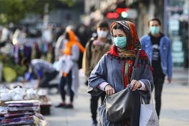 ماسک اجباری شد / خیابان انقلاب تقاطع ولیعصر