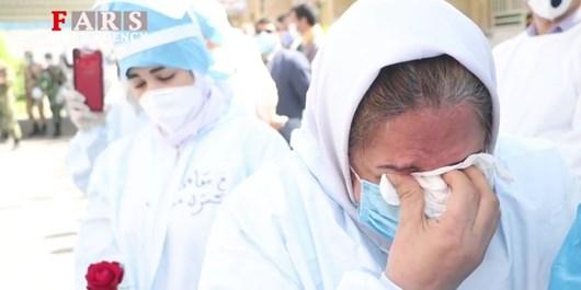فیلم| تشییع اولین پزشک شهید مدافع سلامت خوزستان