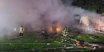 فیلم| 5 مجروح در پی انفجار و آتشسوزی در بالتیمور
