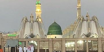 مسجدالنبی در آستانه رحلت پیامبر (ص)+فیلم