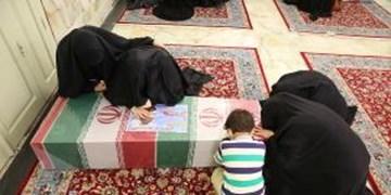 وداع با شهدای مدافع حرم در حرم/خلوت خانوادههای شهدای خان طومان با آنها+ عکس