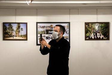 سید احسان باقری مدیر خانه عکاسان ایران در نمایشگاه عکس «عطش وصل»