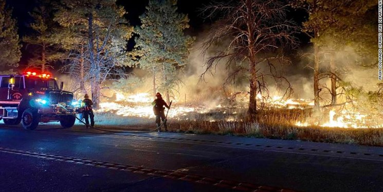 آتشسوزی در مجاورت پایگاه نظامی در «کلرادو» آمریکا