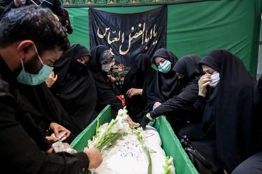 وداع خانواده شهید مدافع حرم زکریا شیری