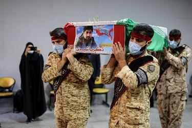 خروج  پیکر شهید مدافع حرم از معراج الشهدا