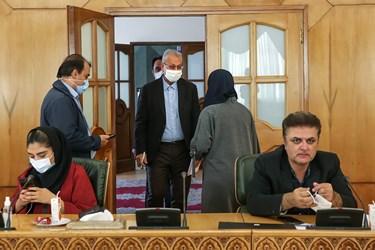 ورود علی ربیعی سخنگوی دولت به محل برگزاری نشست خبری