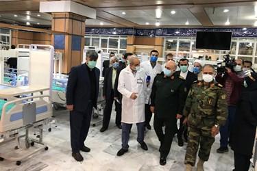 بازدید از بخش جدید بیماران کرونا در بیمارستان شهید چمران توسط جانشین وزیر دفاع