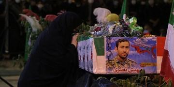 مراسم وداع با پیکر مدافع حرم شهید مهدی نظری در اندیمشک