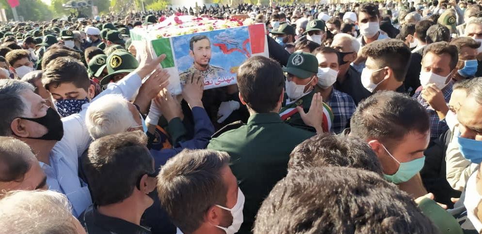 شهید مدافع حرم مهدی نظری در اندیمشک تشییع شد