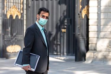 محمدجواد آذریجهرمی وزیر ارتباطات و فناوری اطلاعات در حاشیه جلسه هیأت وزیران / ۲۳ مهر ۹۹