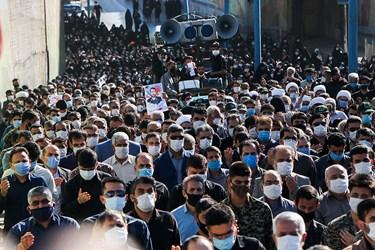 آئین استقبال و تشییع پیکر مطهر شهید مدافع حرم مهدی نظری در اندیمشک
