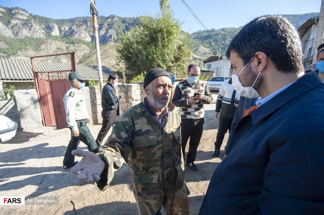 حضور در روستای زلزله زده قورچای و گفت و گو با اهالی روستا