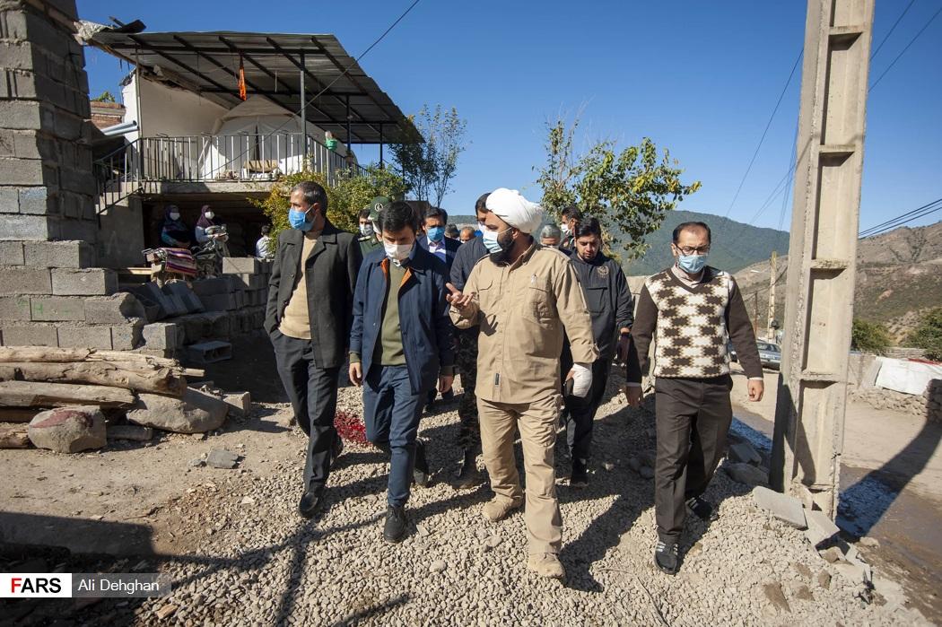 بازدید میدانی از روستای قورچای و گفت و گو با مسئول گروه جهادی
