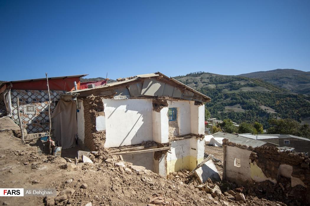 در زلزله 17شهریور ماه بخش زیادی از روستای ویرو و قورچای تخریب شد