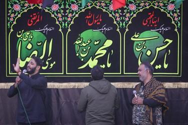 مداحی  مراسم وداع با پیکر شهید مجید سلمانیان
