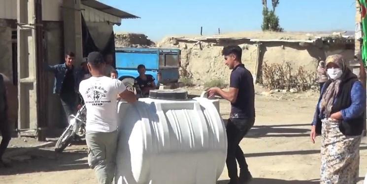کمک مؤمنانه| توزیع تانکرهای آب در روستای آغبلاغ خلخال