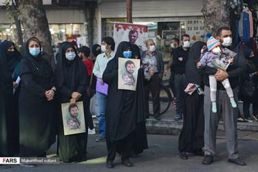 حضور  شهروندان ساروی در مراسم وداع و تشییع شهید مدافع حرم  محمود رادمهر