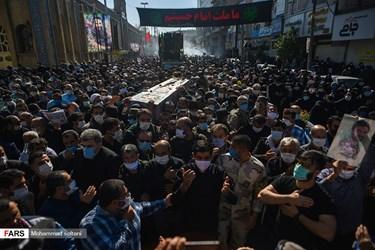 مراسم وداع و خاکسپاری شهید مدافع حرم  محمود رادمهر با حضور  شهروندان ساروی