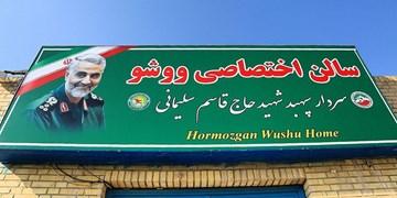 «خانه ووشو» هرمزگان با نام «شهید سلیمانی» مزین شد+عکس