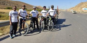عزیمت تیم دوچرخهسواران قزوینی به مشهد از بجنورد + فیلم