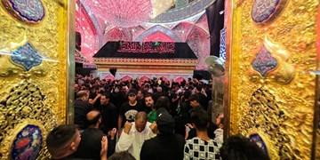 حضور میلیونی زائران عراقی در حرم علوی همزمان با سالروز رحلت رسولالله+فیلم