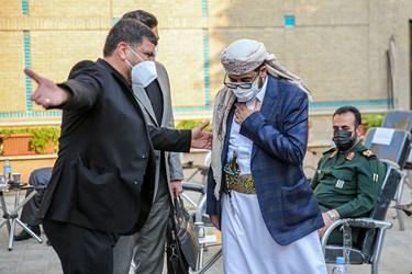 ورود ابراهیم محمد الدیلمی سفیر یمن به محل پنجمین اجلاسیه بین المللی مجاهدین در غربت