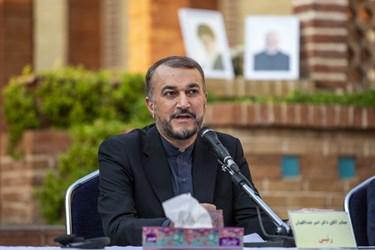 سخنرانی امیرعبداللهیان  دستیار ویژه رئیس مجلس در امور بین الملل در پنجمین اجلاسیه بین المللی مجاهدین در غربت