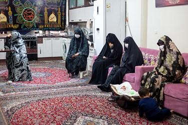 مراسم عزاداری روز شهادت امام رضا (ع) در منزل نفیسه سادات موسوی شاعر