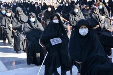 حضور اقشار مختلف مردم بجنورد در اقامه عزای شهادت امام رضا در آستان مقدس سیدعباس بجنورد