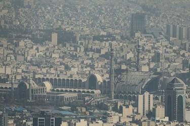 هوای ناسالم تهران / مصلی تهران از فراز برج میلاد